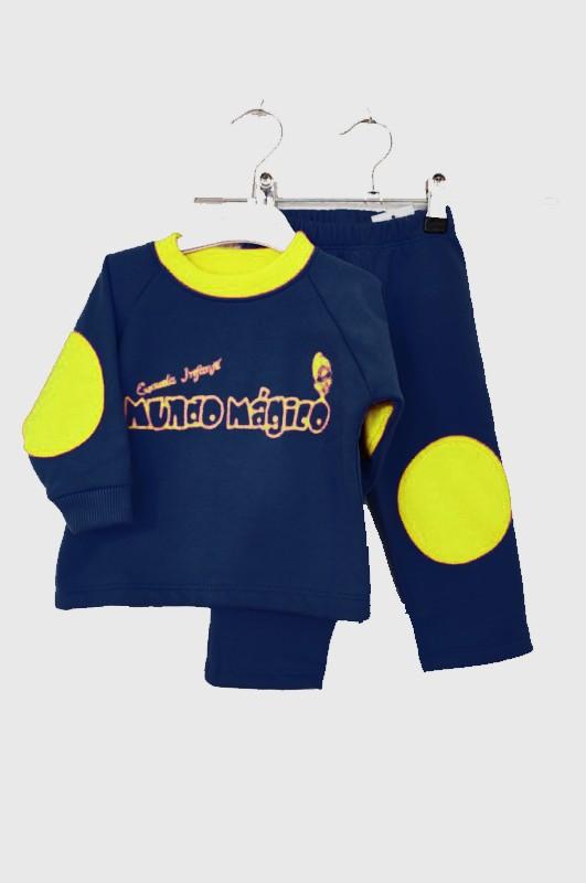 Chandal escuela infantil azul marino - Conjunto deportivo en marino y amarillo. El precio NO INCLUYE NI SERGRAFÍA, NI BORDADO.