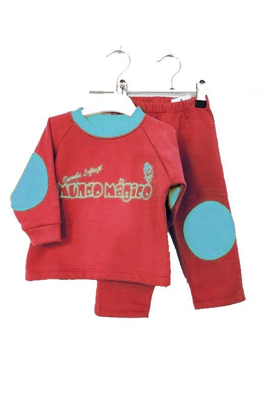 Chandal escuela infantil rojo - Conjunto deportivo en rojo y azul. El precio NO INCLUY NI SERIGAFÍA, NI BORDADO.