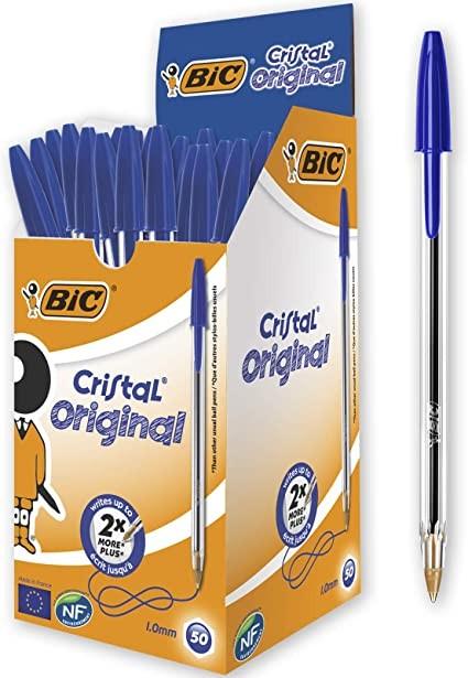 CAJA 50 BOLÍGRAFOS BIC - Caja de 50 bolígrafos BIC. Cristal medium. Elige tu color.