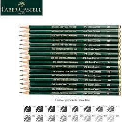 LAPICEROS FABER- CASTELL GRAFITO CAJA 12 UDS - Contiene 12 lápices de grafito de primera calidad. Grado de dureza 2H hasta 8B. Apto para grabado, dibujo y escritura. Fabricado de madera.
