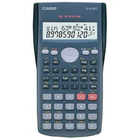 CALCULADORA CIENTÍFICA CASIO FX-82MS - Calculadora escolar con pantalla de 2 líneas y diseño ergonómico.