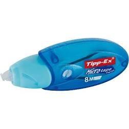 CORRECTOR TIPP-EX CINTA - Cinta correctora con cuerpo azul translúcido y un súper grip para m s comodidad y control, con aplicador frontal. Dimensiones de la cinta: 4,2 mm x 10 m.