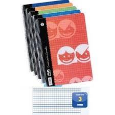 CUADERNO LAMELA DE 4 MM TAMAÑO FOLIO  - Cuaderno con espiral cuadrovía Lamela 4mm con 80 hojas de 70 grs y tapa blanda. Tamaño Folio.  Estos cuadernos incluyen una cuadrícula pautada en su interior que sirve de guía al alumno en el aprendizaje de la escritura.