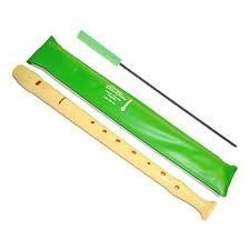 FLAUTA HOHNER PARA COLEGIO CON FUNDA VERDE DE PLÁSTICO  - Clásica flauta dulce escolar de un cuerpo. Con funda protectora y varilla limpiadora para su correcta conservación.  Ideal para uso escolar.  Producto Hohner