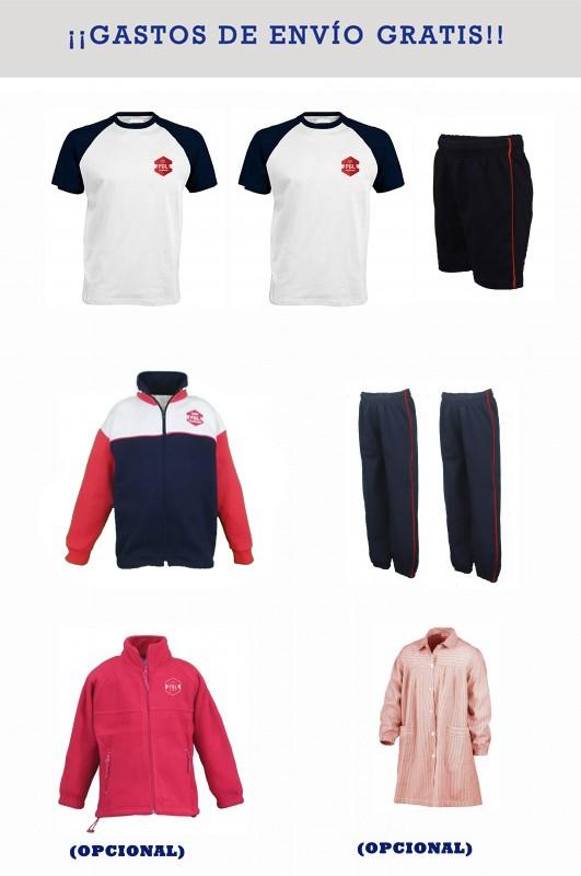 LOTE  DEPORTIVO Federico García Lorca, Majadahonda - Contiene: Chaqueta + 2 pantalones + bermuda + 2 camisetas . Elige tus tallas. Puedes añadir como opcional polar, baby y/o pack de calcetines deportivos.