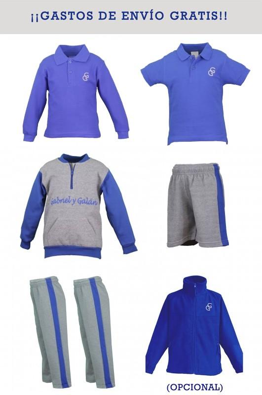 LOTE DEPORTIVO Gabriel y Galán, Torrejón de Ardoz - Lote deportivo, contiene: Chaqueta + 2 pantalones + Bermuda + Polo M/C + Polo M/L Puedes añadir al lote un polar.