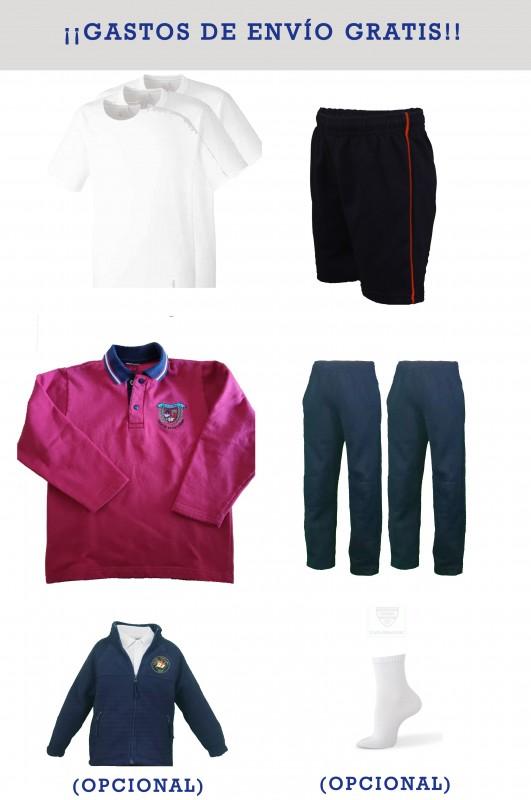 LOTE DEPORTIVO Blas de Otero, Madrid - Lote deportivo, contiene: sudadera + 2 pantalones + Bermuda + 3 camisetas. Puedes añadir opcionalmente un polar.