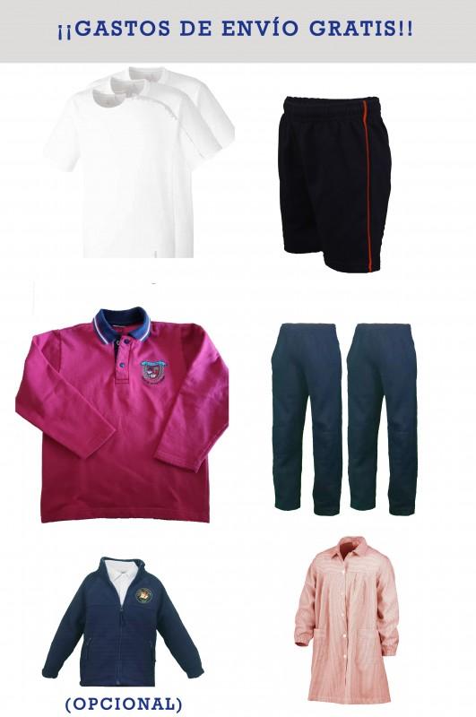 LOTE INFANTIL Blas de Otero, Madrid - Lote deportivo, contiene: sudadera + 2 pantalones + Bermuda + 3 camisetas + Baby. Puedes añadir opcionalmente un polar.