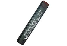 MINAS FABER-CASTELL 0.5 HB  - Minas Faber Castell 0.5 mm HB para portaminas, cada tubito contiene 12 minas de alta resistencia a la rotura, tubos con dosificador