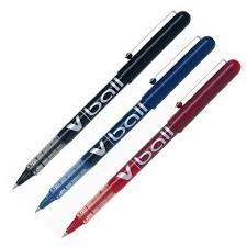 PILOT V-BALL 0.5 - Bolígrafo PILOT VBALL. Roler punta aguja de bola. Elige tu color.
